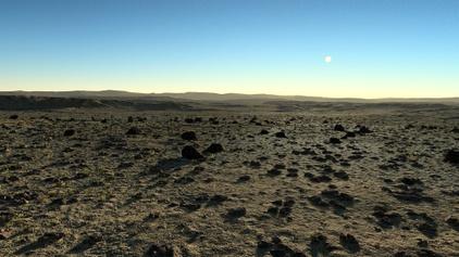 Rocky desert panorama
