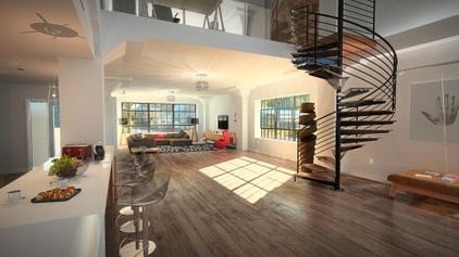 Indoor flat with outdoor view